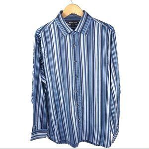 Michael Kors Mens Classic Fit Dress Shirt $98 1007